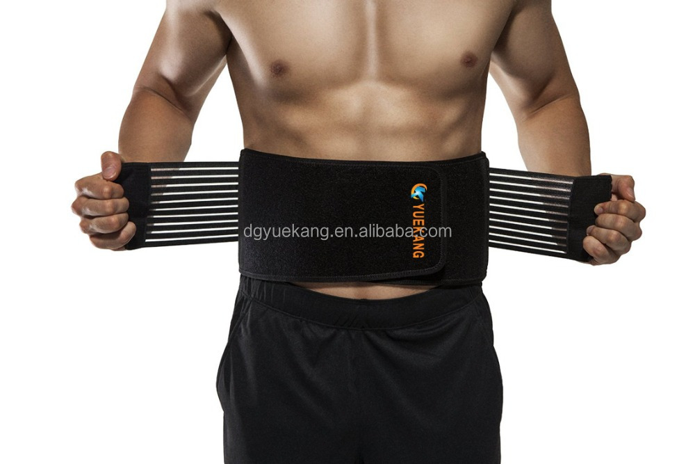 Stabilizing Lumbar Lower Back Brace - Support Belt with Dual Adjustable Straps - Breathable Mesh Panels
