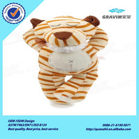 Lovely stuffed plush tiger with CE/ASTM standard