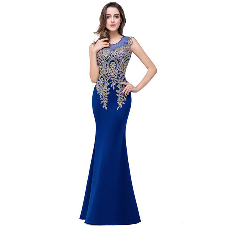 Women summer lace long maxi party prom evening dress