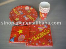 party item of napkin,plate,cup