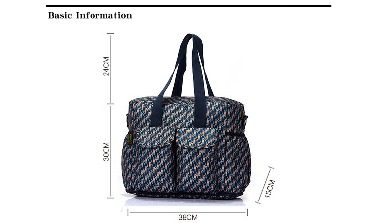 Wholesale guangzhou print unique best fashion nylon lightweight travel baby changing nappy diaper bags mummy maternity baby bag