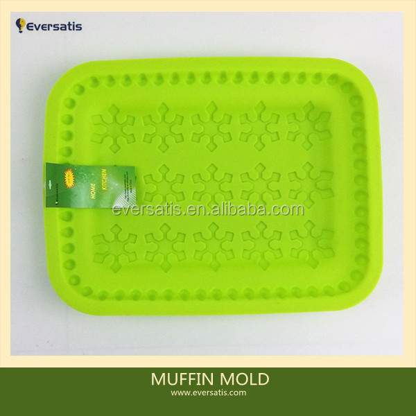 Silicone Cake Baking Mold Cake Pan Muffin Cups Handmade Soap Moulds Biscuit Chocolate Ice Cube Tray