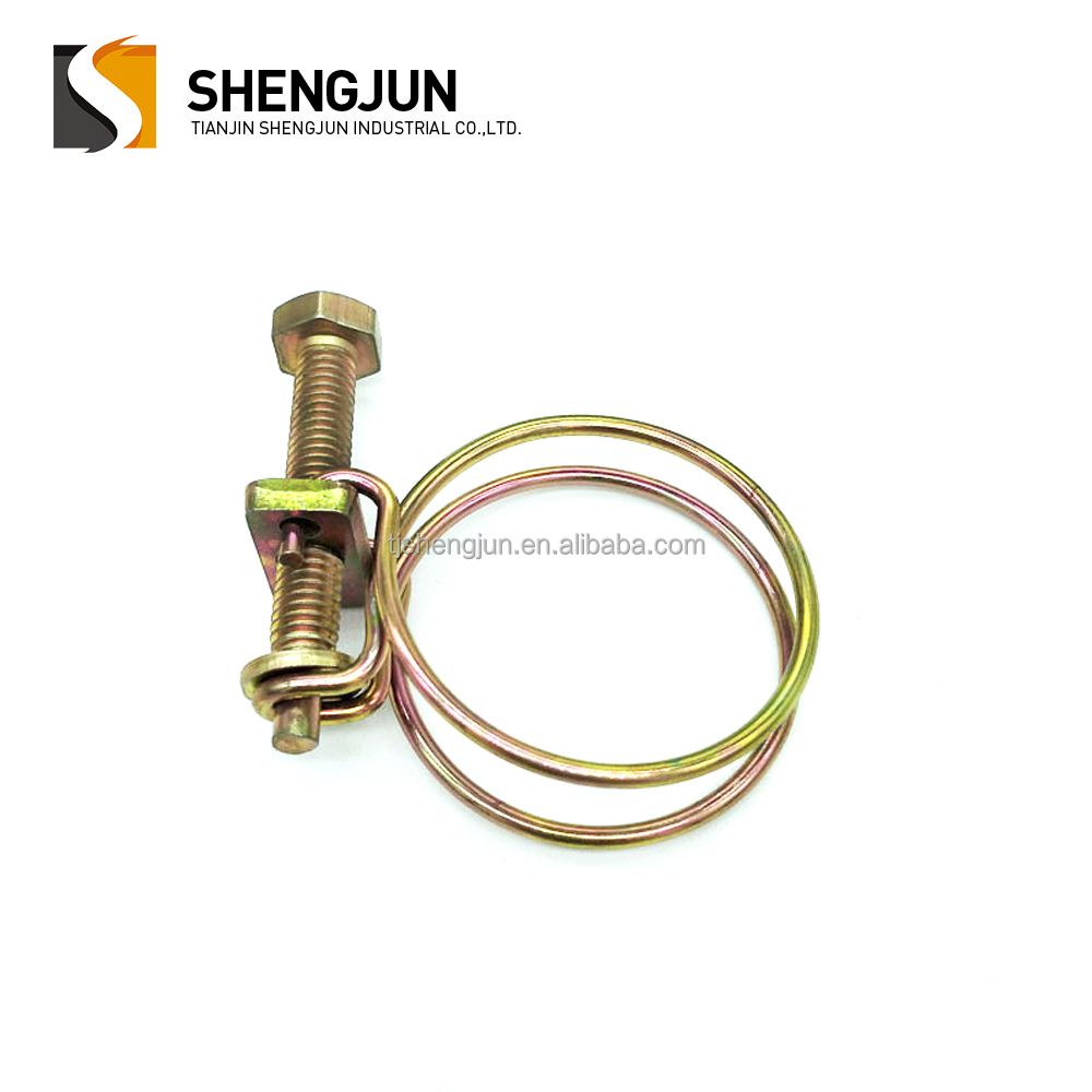 china manufacturer customized double wire hose clamp