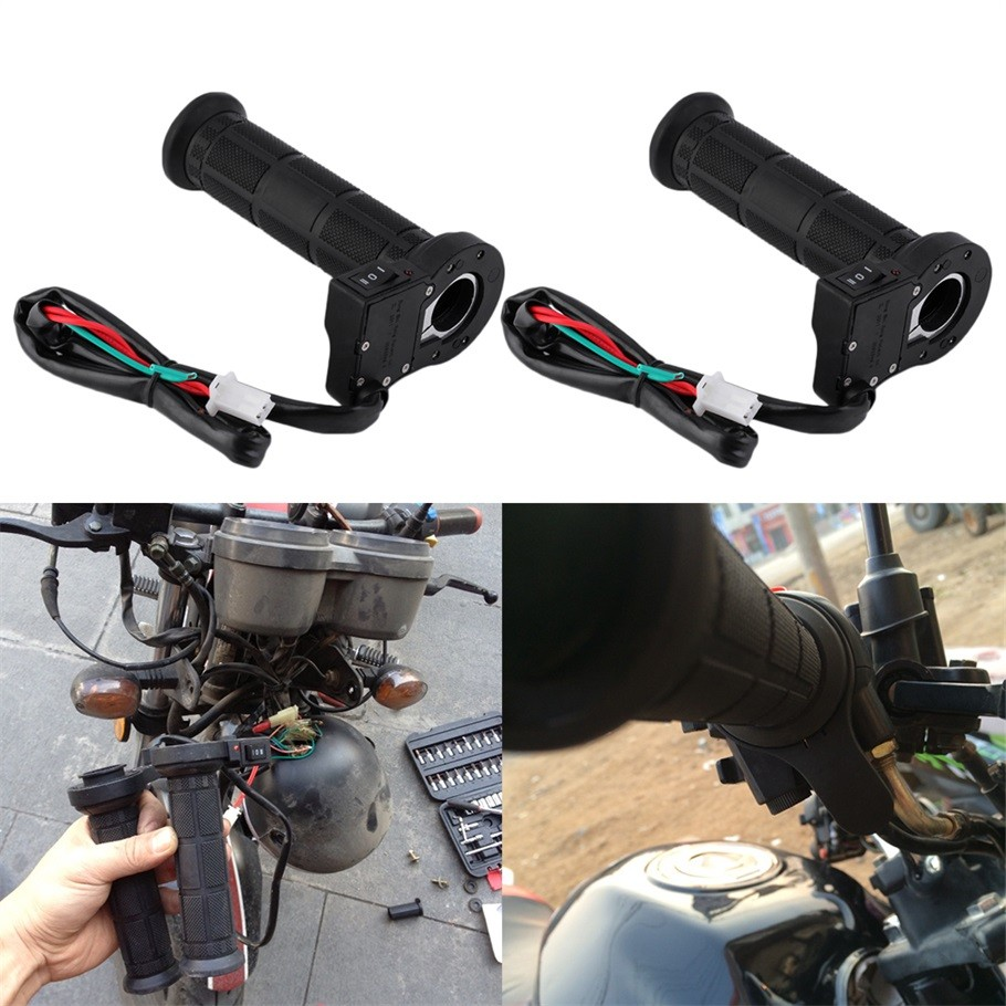 1 pair 22mm Motorcycle Electric Heated Molded Grips Handle Handlebar Warmer Wholesale New Dropping Shipping