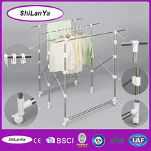 mobile screen-type hotel clothes rack