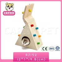 Carno factory supply wooden multifunction hamster toy and house