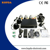 cctv dvr kit 4ch,with 2pcs dome camera and 2pcs ir waterproof camera,CMOS CCD,cheaper