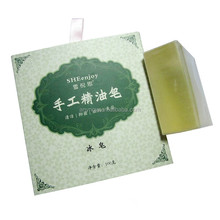 Mint anti bacterial oil control ice handmade soap
