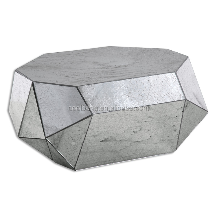 Top quality unique glass triangle coffee tables/acrylic faux stone coffee table