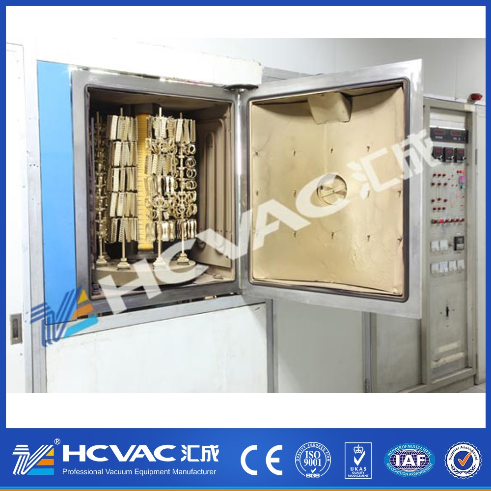 HCVAC Jewelry watch 24k gold MF magnetron sputtering coating equipment,multi arc ion vacuum plasma coating machine