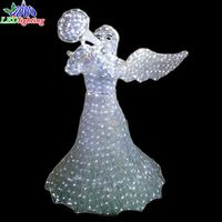 Fairy angel sculpture 3D Christmas Light Motif lighting Waterproof Holiday Decoration lights