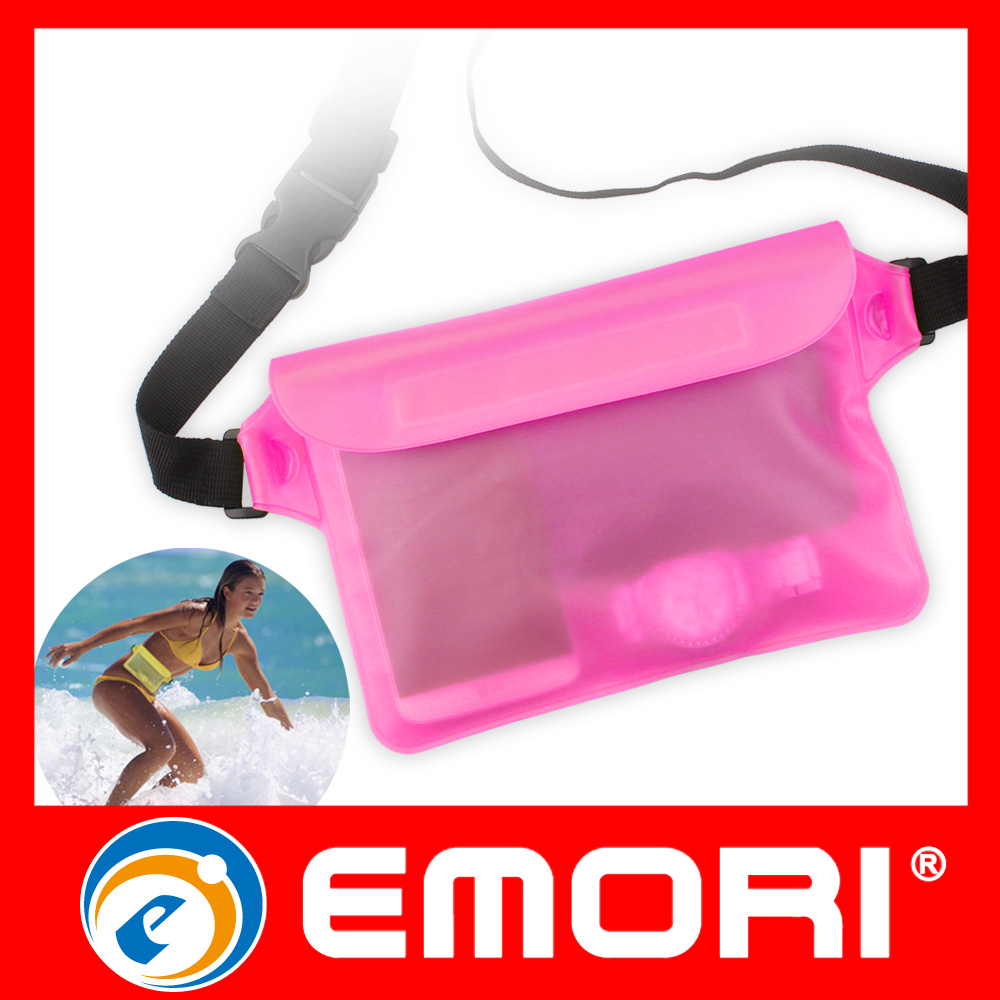 2016 New Arrival PVC Waterproof Protect Camera Cash Phone Waist Bag