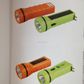 1LED waterproof solar power torch flashlight