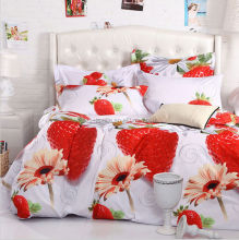 strawberry printed raspberry bedding