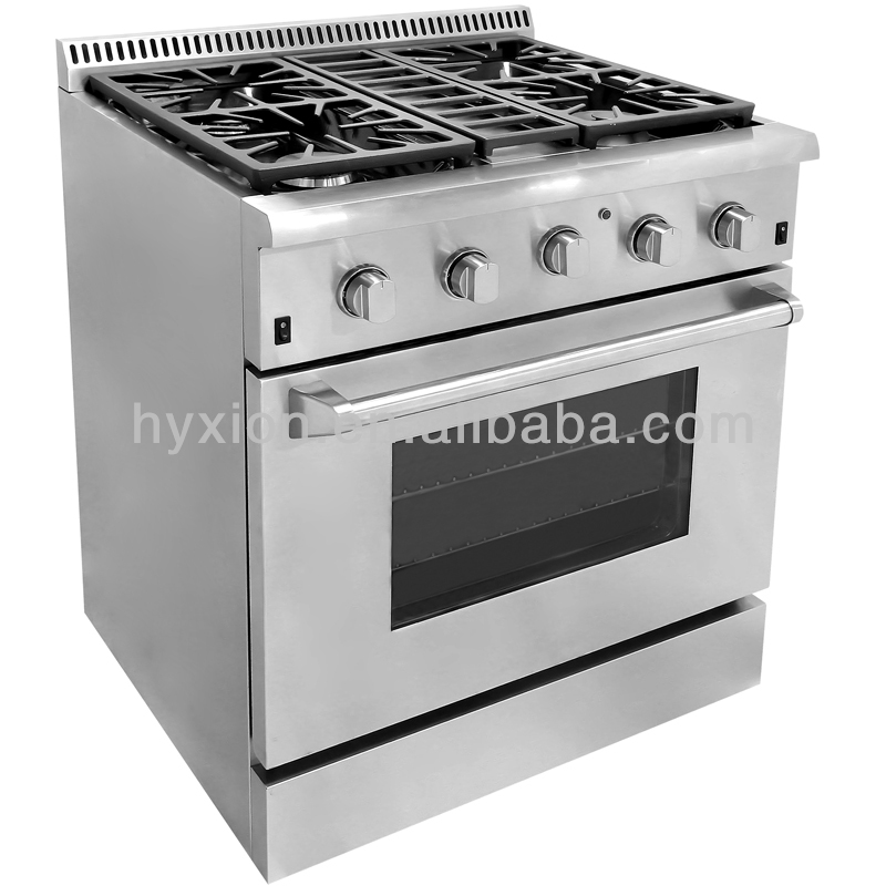 Freestanding 3 Burner Commercial Cooking Range