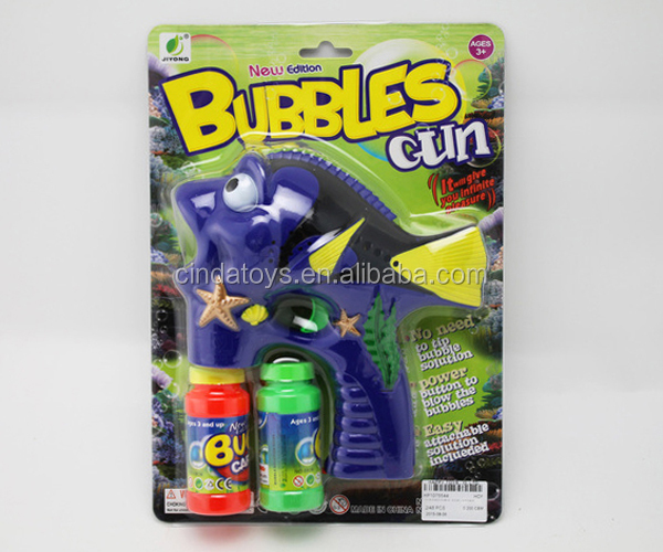 China Supplier for Wholesale bubble gun ,Children summer toys fish bubble gun