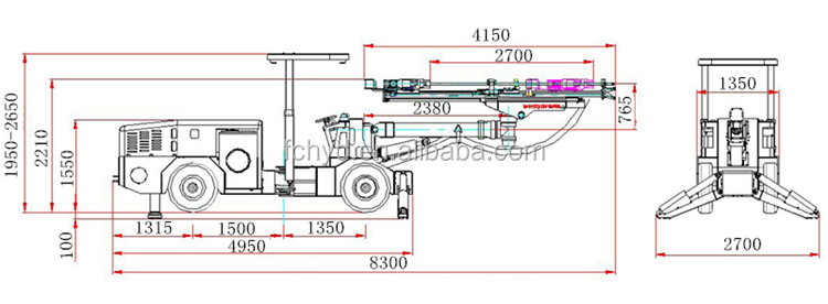 Modern Design of Wheel Drilling Jumbo with electric & diesel power