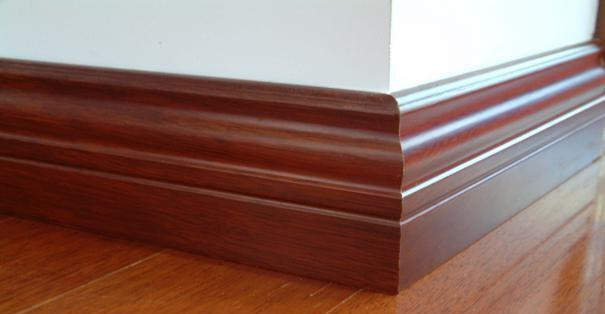 wood plastic composite skirting board/WPC skirting board high quality