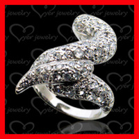 China fashion jewelry animal snake shape 925 sterling silver jewelry rings wholesale