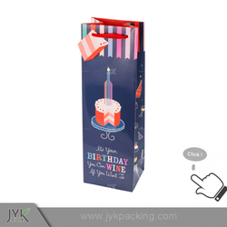 Cheap personalized paper christmas wine gift bags wholesale