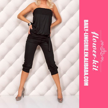 Sexy Strapless Jumpsuit Women Casual Jumper Capri Pants Romper