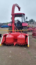 PTO-driven tractor towed forage silage harvester used by small family farms