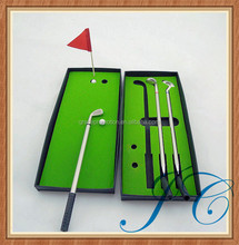 Wholesale office mini golf set/ kids golf putter gift set with custom logo