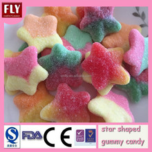 Star shaped soft halal gummy candy