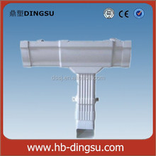 China High Quality 125mm small pvc gutter half round pvc gutter same with Brazil Tiger Brand