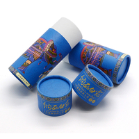 Blue Color Paper Tube Box Printing