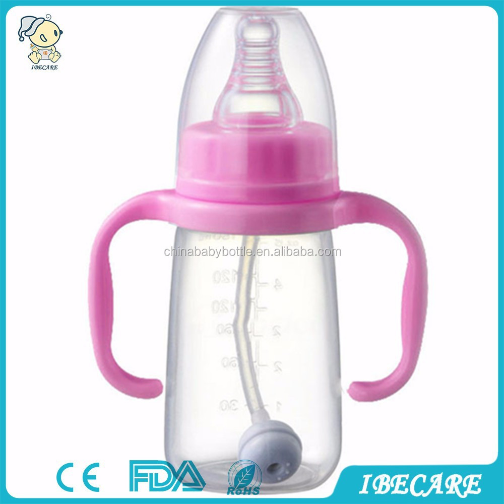 Hot selling food grade standard neck 60ml baby feeding bottle collapsible water bottles, pp bottle drying rack