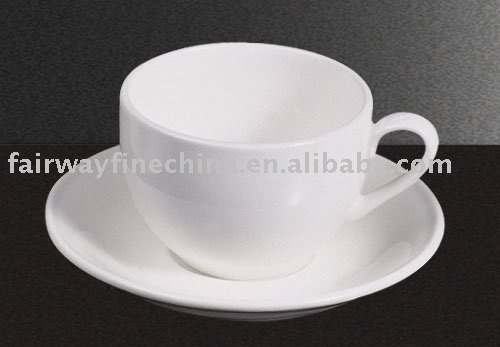 Cheap wholesale custom logo design decal porcelain coffee cup and saucer