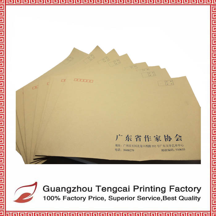 2016 best selling high quality custom recyclable envelope kraft wholesale
