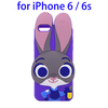 3D Cartoon Rabbit Judy Mobile Phone Silicone Case for iPhone 6S, Back Shell Rubber Cover for iPhone 6S