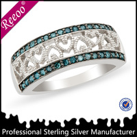 925 silver jewelry rings blue cz ring sterling silver mexican ring handmade jewelry