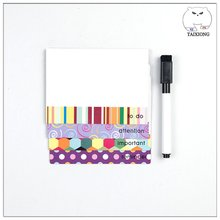 OEM Fashionable Fridge Magnet Magnetic Memo Pad With Pen