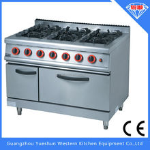 china factory sales heavy duty cooker gas oven 6 burner gas range