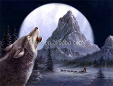 Newest design wild wolf nature 3d picture