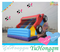 China Inflatable Supplier Inflatable Car Combo Bounce House With Slide For Children Games