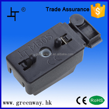 plastic electrical junction box cover with connector and terminals
