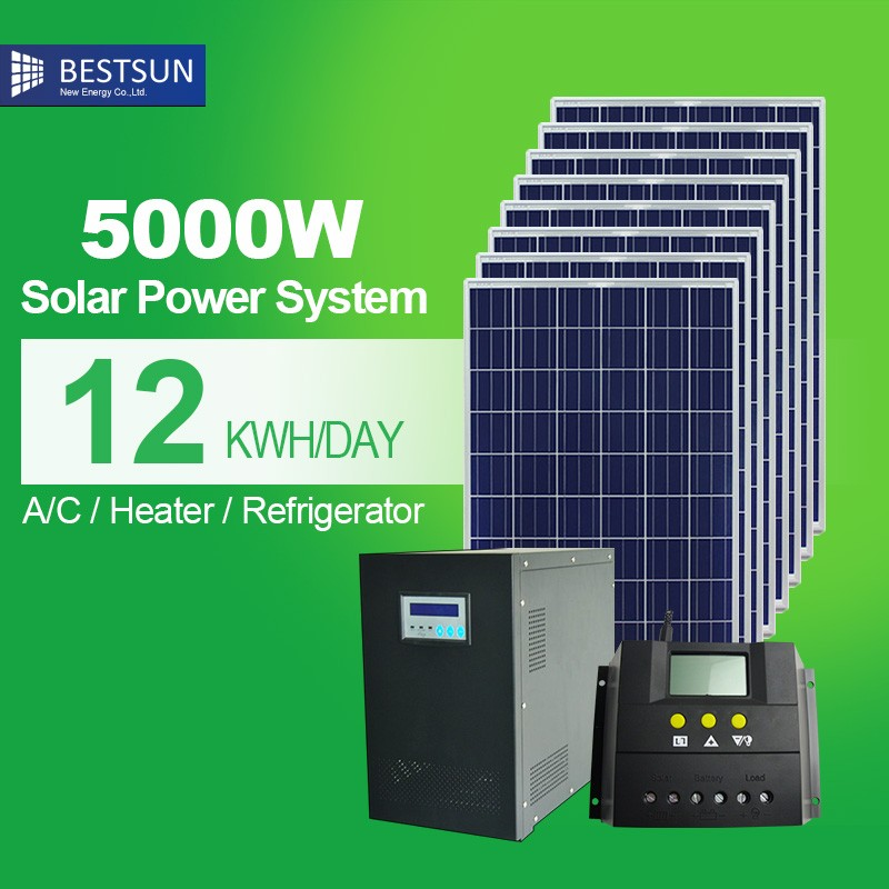 5KWH UPS system battery / 6KW solar energysystem / solar panel system grid tied system 6KW