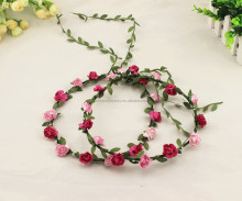 Paper Rose Flower Head Wreath Garland For Wedding Prom Party And Christmas Decoration