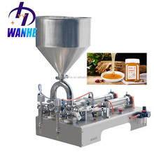 Horizontal Double head Paste filling machine bottle can bag tomato ketchup filling machine