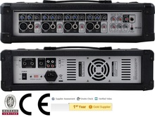 DJ mixer,CE Certified HY-204 120W Professional Public Address Power Mixer,4-Channels