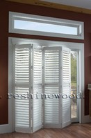 PVC Movable Louver Blade Folding Door Shutters
