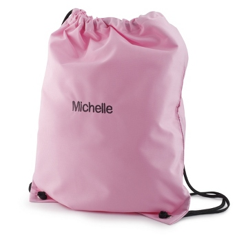 custom Embroider cheap polyester drawstring bag