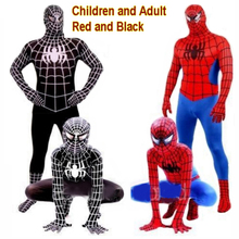 Hot Sale Halloween Spider kids adults man Cosplay Clothing Suit costumes