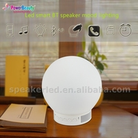2015 professional small magic waterproof wireless rgb color changing glow smart led out light round ball with bluetooth speaker