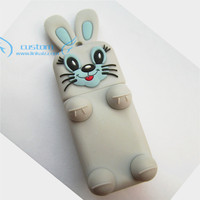 custom pvc rubber rabbit usb stick animal shape usb flash drive 8GB