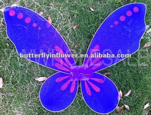 2012 new purple butterfly wings babay girl angle wings